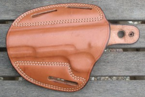 After the surgery - open top holster with improvised sweat guard
