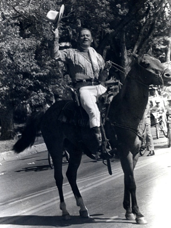 Joe Bowman on horseback