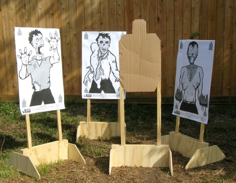 Zombie Targets about to eat IDPA Brain