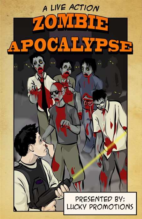 live action zombie kill / survival event