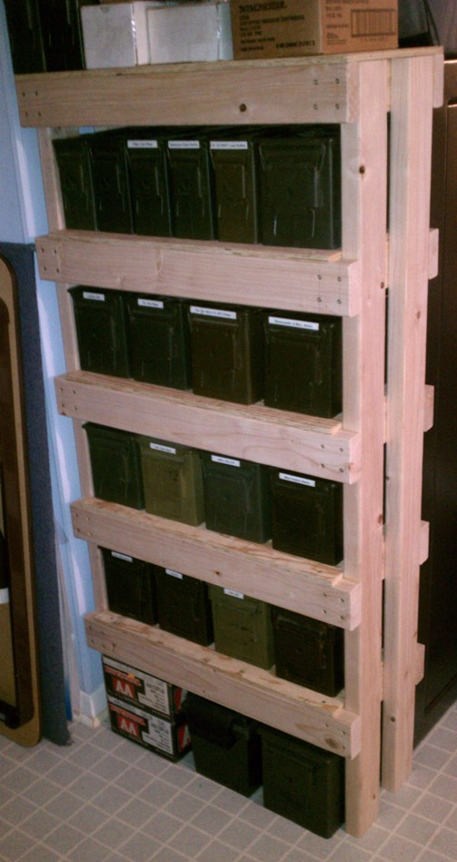 How To Build An Ammo Can Rack A K A The Overbuilt Shelf