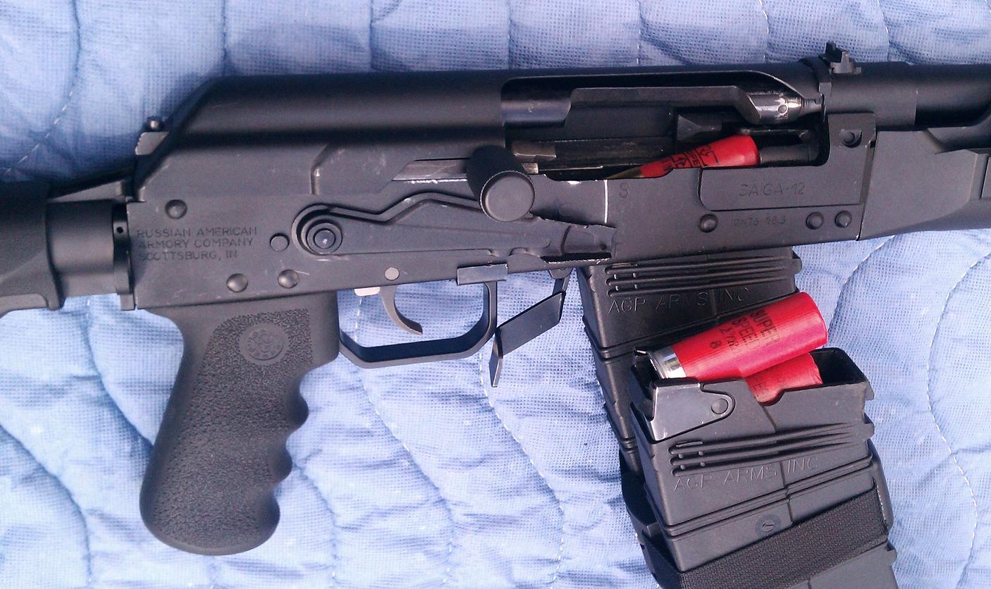 12 gauge shotgun slug wound