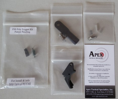 Forward Set Sear kit with Polymer Trigger from Apex Tactical