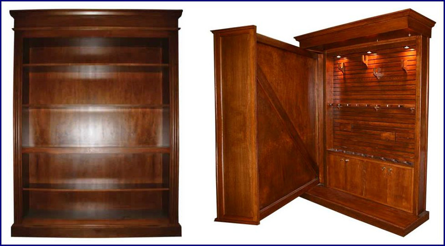 Hidden in plain sight custom gun storage furniture 1 with a bullet Wardrobe cabinet design woodworking plans