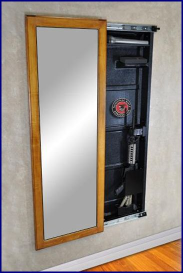Gallery For > Hidden Gun Cabinet Mirror