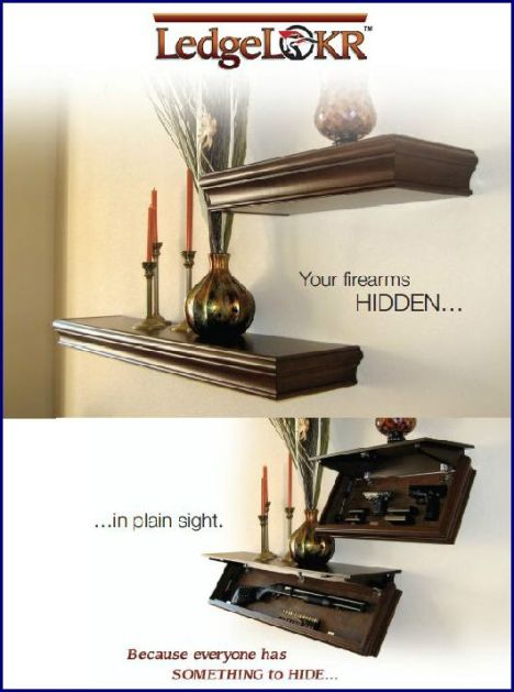 LedgeLOKR concealment shelf / mantlepiece