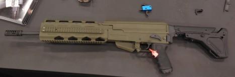 Looking much like the M41A Pulse Rifle from Aliens is an AK pattern rifle prototype from Black Rain.