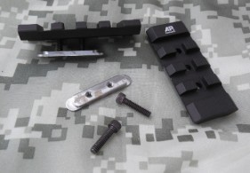 Two 2 inch add-on rail sections are included with AP Customs Tactical Handguard